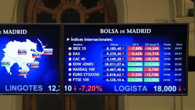 La Bolsa española ha iniciado la sesión con un desplome del 15,90 % afectada por la decisión de Reino Unido de abandonar la UE.