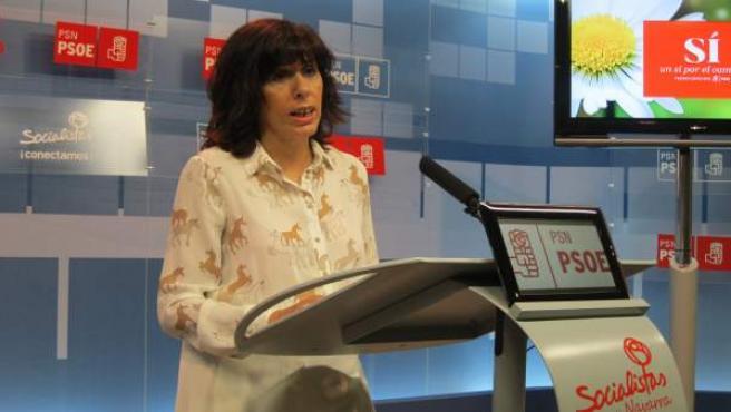 La portavoz del PSN en el Ayuntamiento de Pamplona, Maite Esporrín.