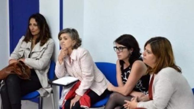 La candidata de la FSA, Adriana Lastra, en un acto por los refugiados