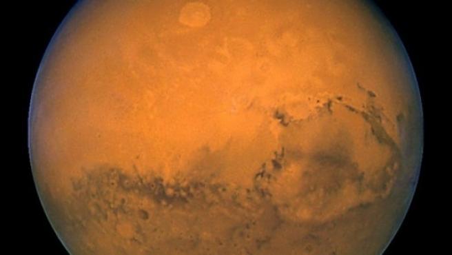 Imagen del planeta rojo.