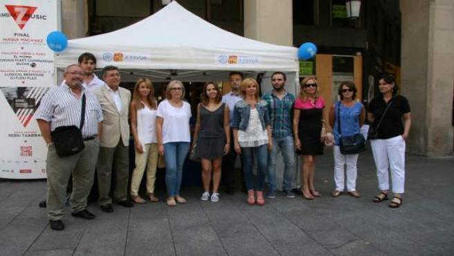 La coalición PP-PAR realiza balance de la campaña en Zaragoza.