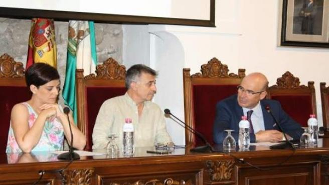 Carmona (dcha.) durante la presentación de la 'app'