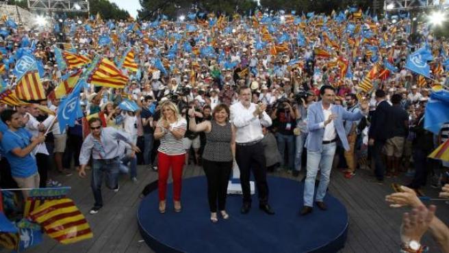 BONIG, RAJOY Y DIRIGENTES 'POPULARES' VALENCIANOS EN EL MITIN