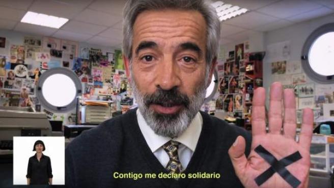 El actor Imanol Arias pide marcar la casilla solidaria en la declaración de la renta de 2014.
