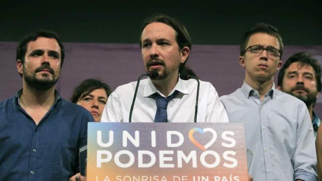 Pablo Iglesias analiza los resultados electorales, que consolidan al PSOE en segunda posición y a Unidos Podemos en tercer lugar.