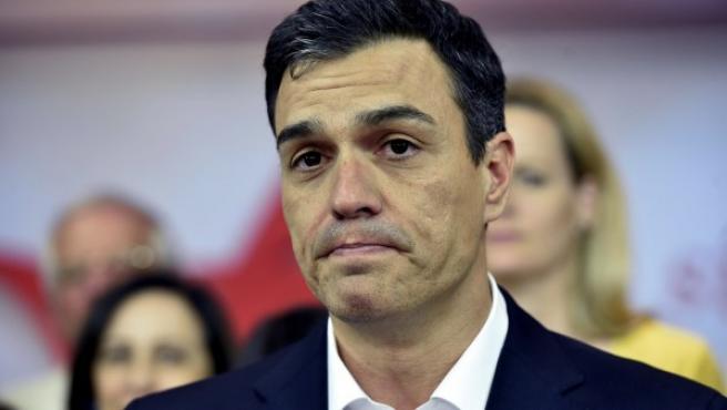 El secretario general del PSOE, Pedro Sánchez, analiza los resultados de las elecciones generales de este 26J.