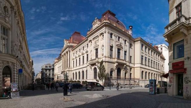 Edificios señoriales en el centro de Bucarest.