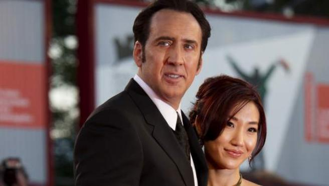 Nicolas Cage y su tercera mujer, Alice Kim.