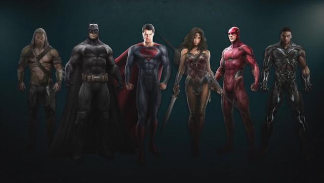 Los superhéroes de 'Justice League', por fin juntos
