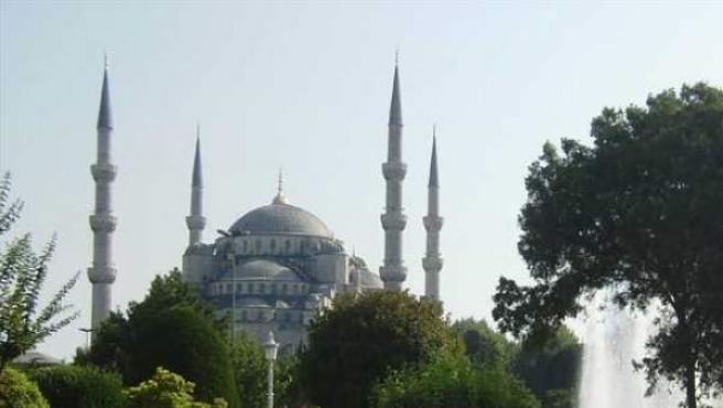 Imagen de la Mezquita Azul, en Estambul.