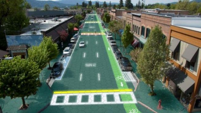 La Ruta 66 quiere implantar en un tramo el pavimiento solar.