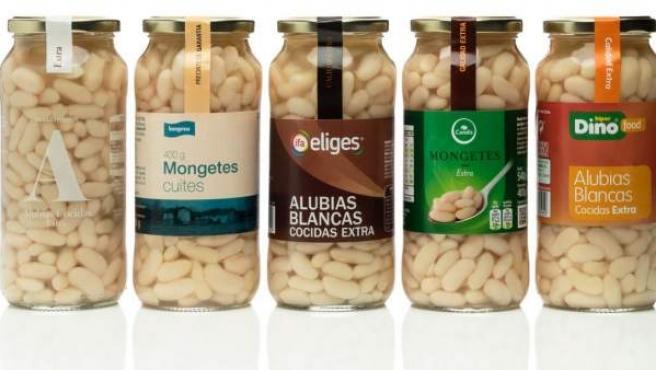 Envases de las marcas de alubias investigadas por su posible relación con casos de bolutismo, publicada en la web de Pizcuezo-Hermanos Cuevas.