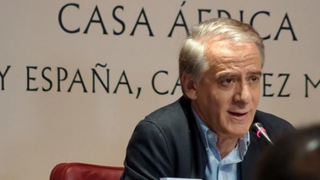 El periodista Ignacio Cembrero, durante un acto en Casa África.