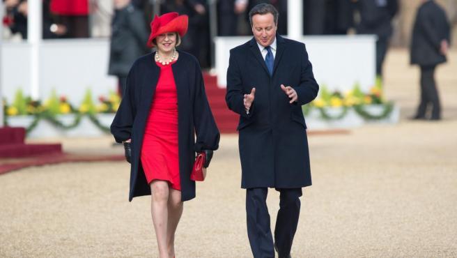 Theresa May y David Cameron, en Londres en 2015.