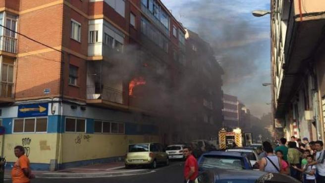 Incendio en la calle Mariano Miguel López