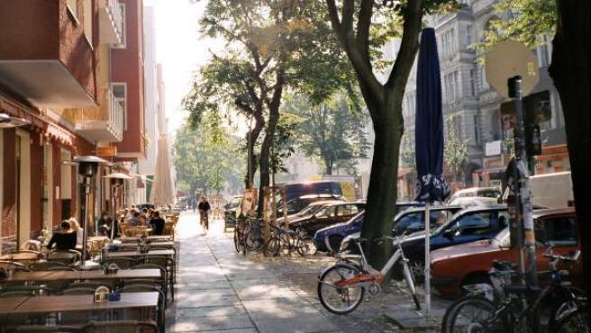 Una calle en el barrio de Friedrichshain, en Berlín.