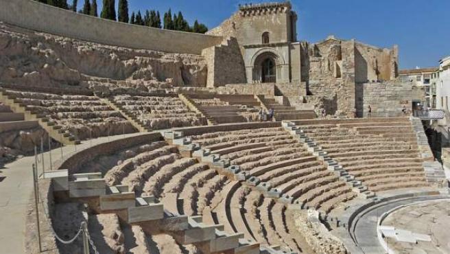 Teatro Romano de Cartagena, junto a los restos de la catedral antigua.