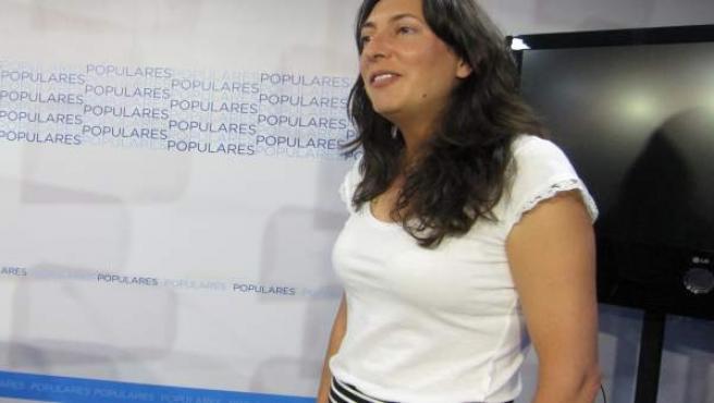 Dolores López en la sede del PP de Córdoba