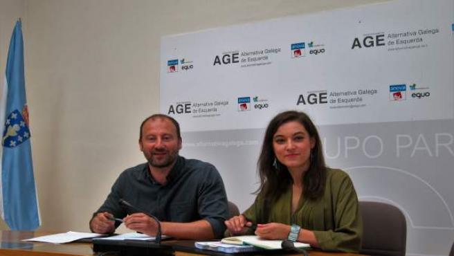 Ramón Vázquez y Eva Solla, diputados de AGE