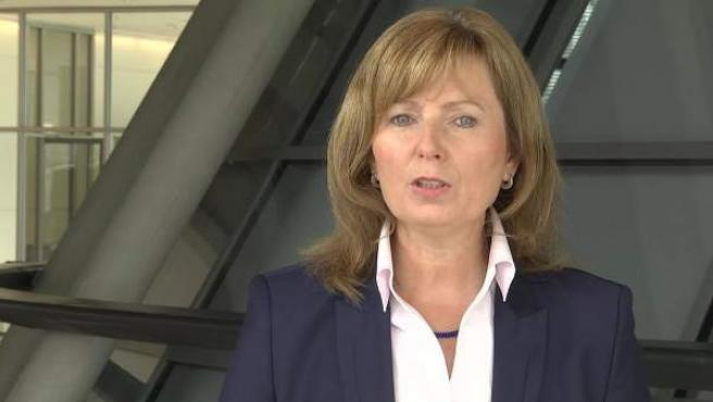 La diputada alemana Petra Hinz en el Parlamento de Berlín.