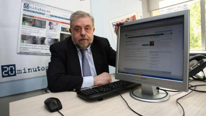 Octavio Granado, en un encuentro digital en 20minutos.es en 2011.