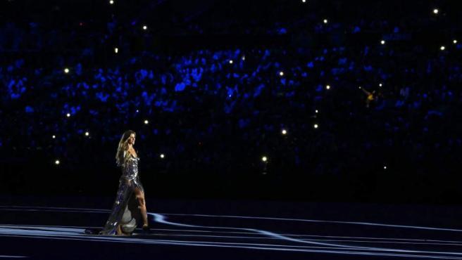 La supermodelo Gisele Bündchen, en la ceremonia de apertura de Rio.