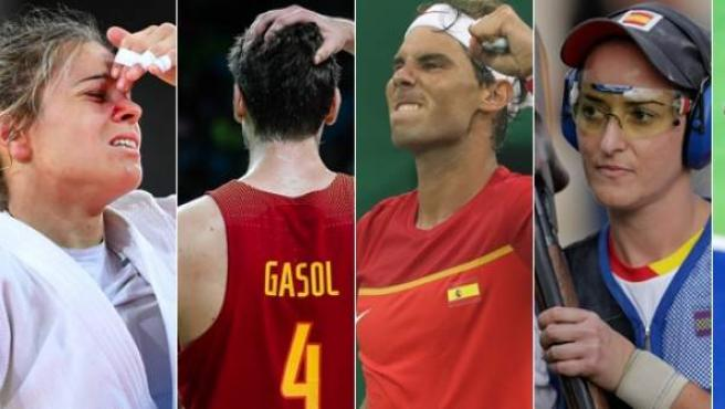 Laura Gómez, Pau Gasol, Rafa Nadal, Fátima Gálvez y Alex Casasayas.