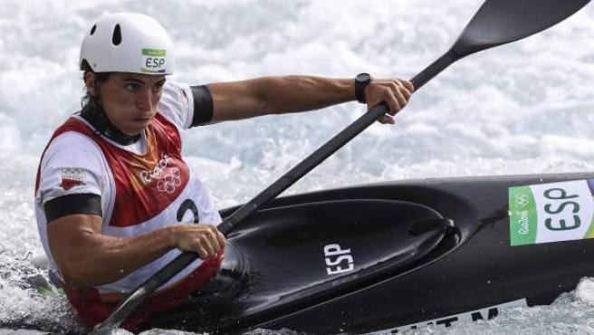 Maialen Chourraut en el descenso de K1 piragüismo slalom.