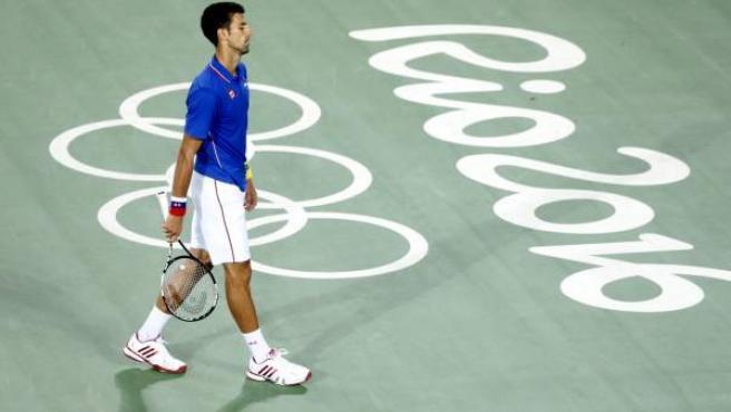 Novak Djokovic en los Juegos de Río.