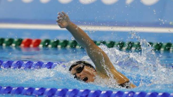 Mireia Belmonte durante la prueba de los 200 metros estilos en los Juegos de Río.