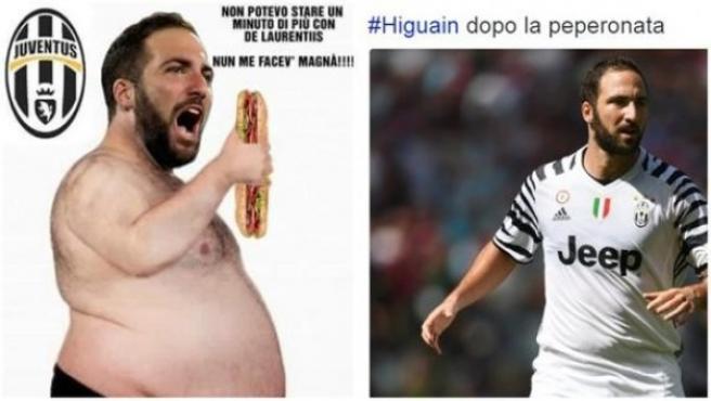 Memes con el sobrepeso de Higuaín.