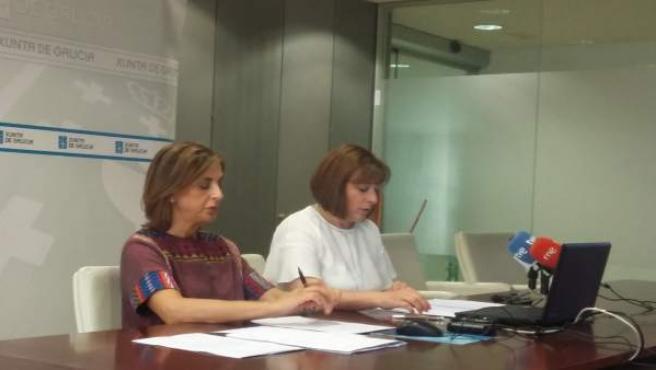 La secretaria xeral de Igualdade, Susana López Abella, en la rueda de prensa
