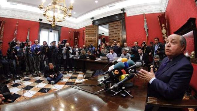 José Torres Hurtado en rueda de prensa tras ser detenido en Granada