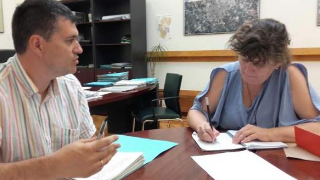 Palacín se reúne con su homóloga navarra Eva García