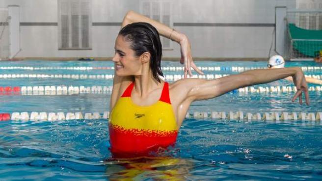 Thaïs Henríguez, en la piscina que tantos éxitos le ha dado.