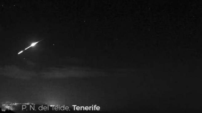 Imágenes captadas desde el Parque Nacional del Teide.
