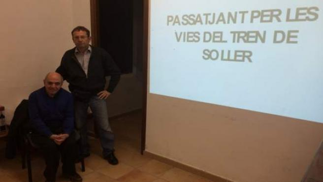 Andreu Palau y el vicepresidente de AAFIB, Gabriel Cañellas