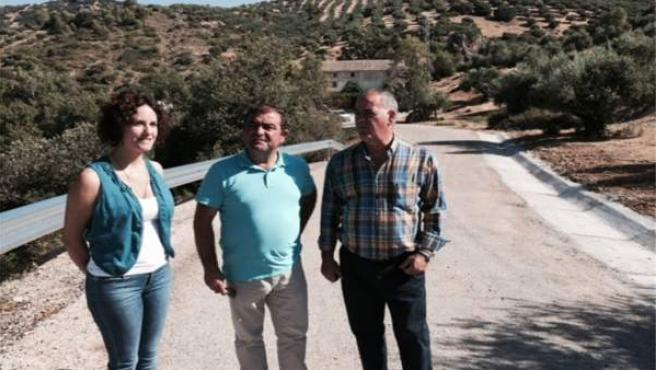 Visita a las obras en la vía entre Quesada y El Chorro.