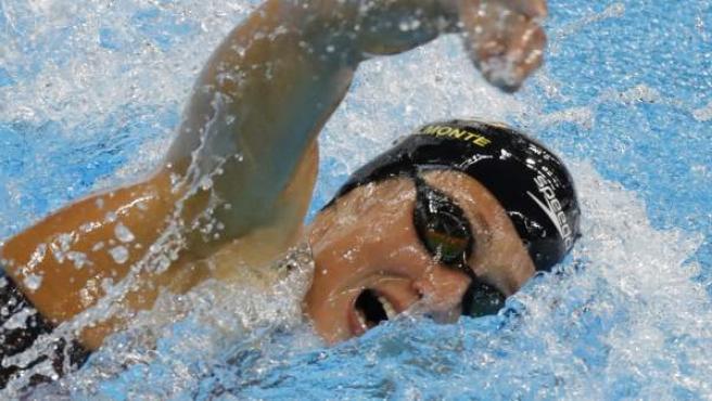 Mireia Belmonte, en los 800 metros libres.