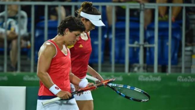 Muguruza y Suárez se despiden en dobles a las puertas de semifinales