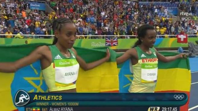 La atleta Ayana ha batido el récord del mundo en 10.000 metros.