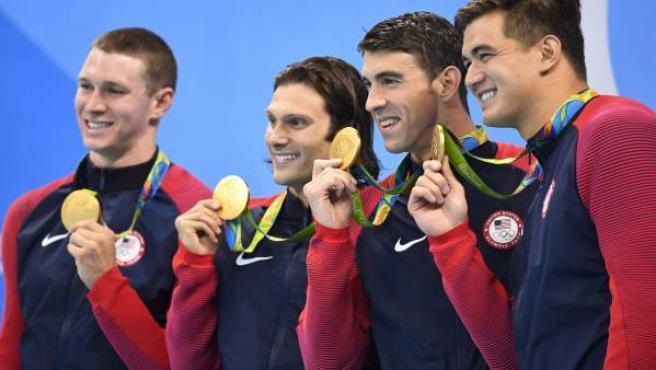 Michael Phelps se retiró con la medalla de oro del 4x100 estilos en Río.