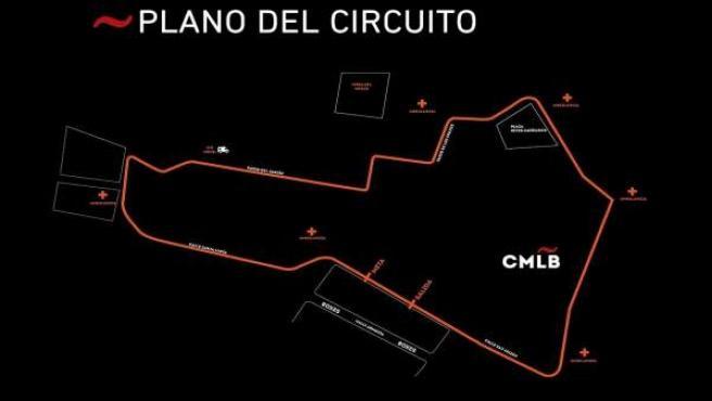 Plano del circuito de la 57 Carrera Internacional de Motos de La Bañeza (León)