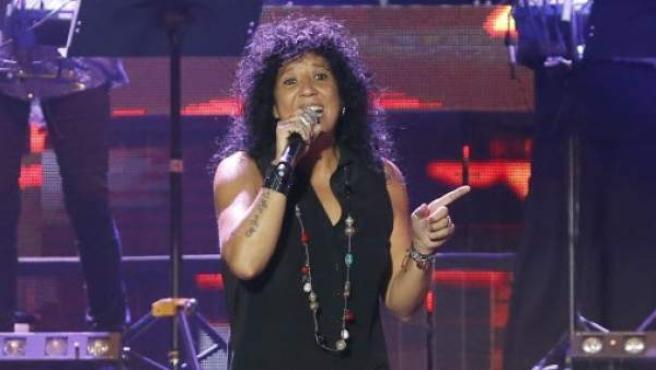 La cantante Rosana en un concierto