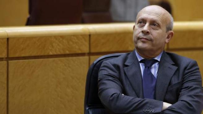 José Ignacio Wert, en el pleno del Senado.