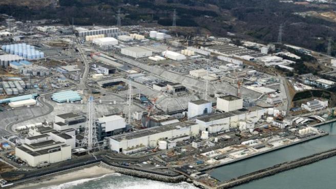 Una imagen aérea de Fukushima, en su estado actual.
