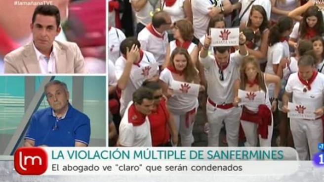 El periodista Antonio Naranjo, en el programa 'La mañana' de TVE el pasado lunes.