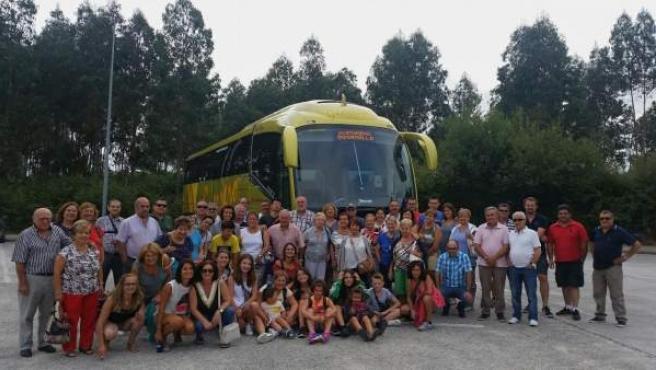 Los participantes en la excursión organizada por el Ayuntamiento de Osornillo
