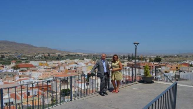 El presidente de la Diputación de Almería visita Viator