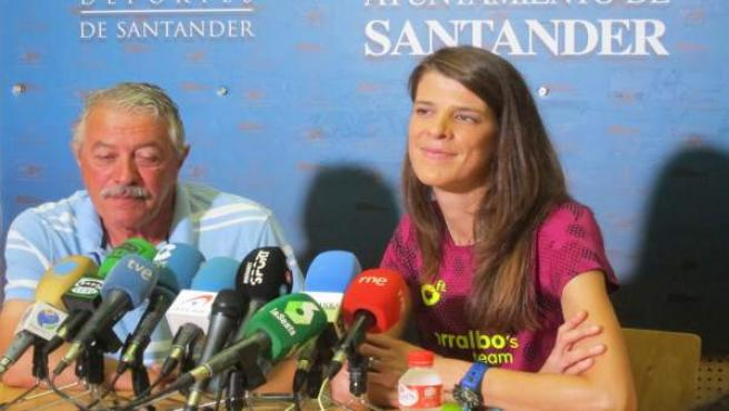 Ramón Torralbo y Ruth Beitia, en rueda de prensa